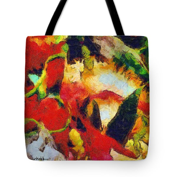 Xtreme Floral Four Tote Bag by Spyder Webb