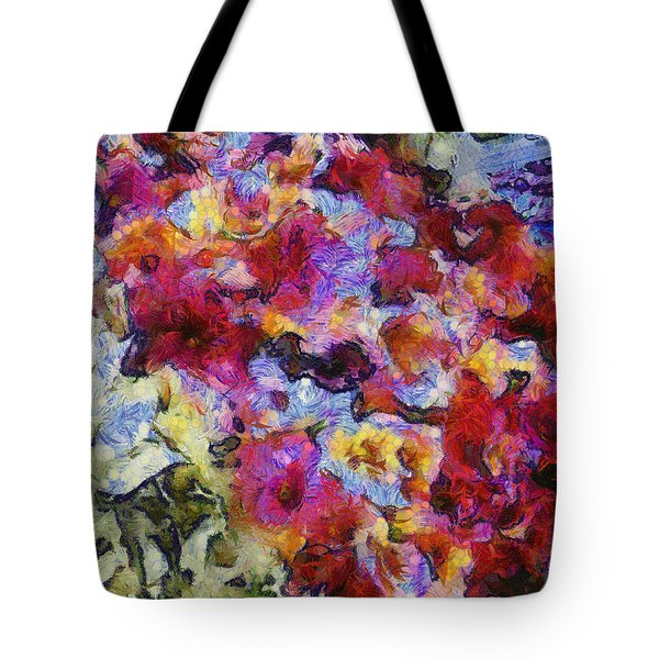 Xtreme Floral Five Cascade Tote Bag by Spyder Webb