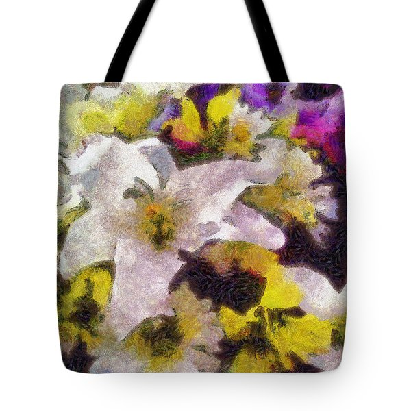 Xtreme Floral Six The White Star Tote Bag by Spyder Webb