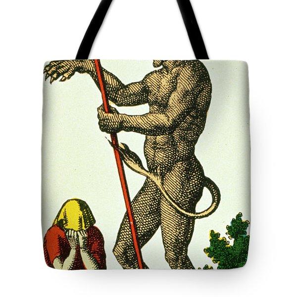 Xv The Devil   Tarot Card Tote Bag