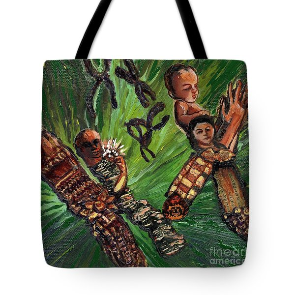 Xx Chromosomes Microbiology Landscapes Series Tote Bag by Emily McLaughlin