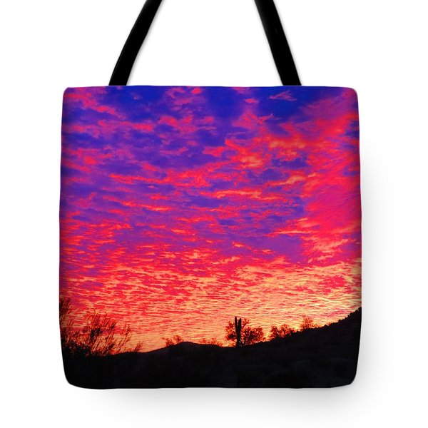 Y Cactus Sunset 1 Tote Bag