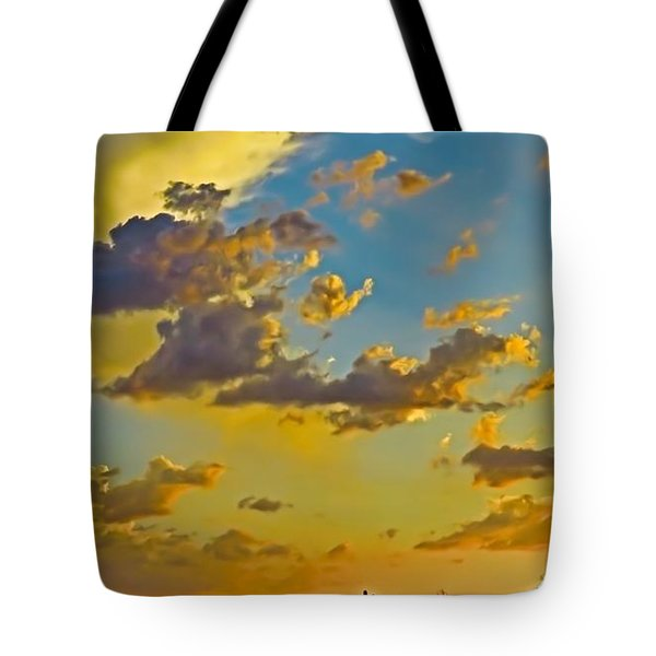 Y Cactus Sunset 10 Tote Bag