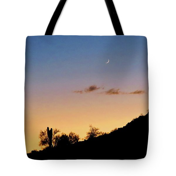 Y Cactus Sunset Moonrise Tote Bag