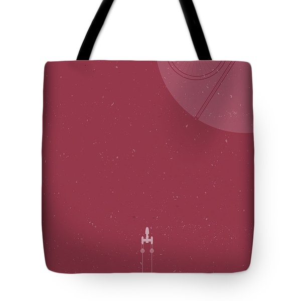 Y-wing Bomber Meets Death Star Tote Bag
