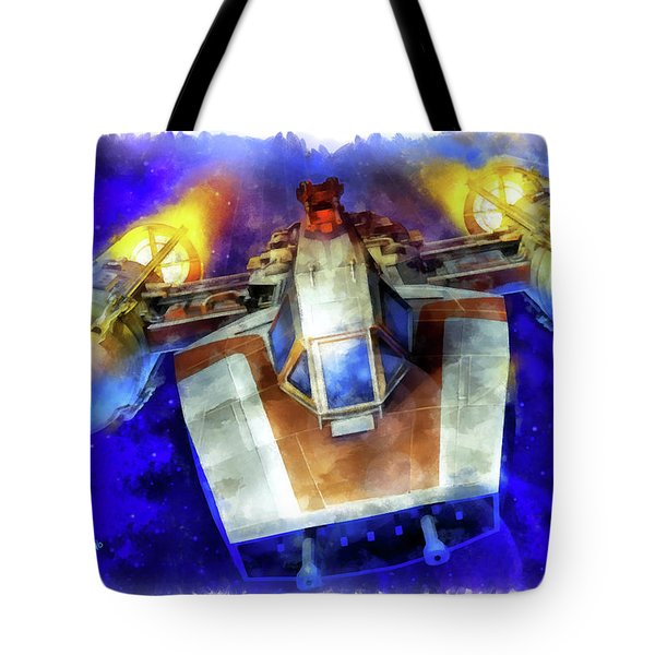 Y-wing Fighter - Aquarell Style Tote Bag