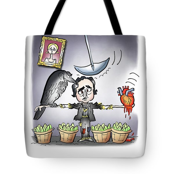 Tote Bag featuring the digital art Ya Got Me Raven by Mark Armstrong