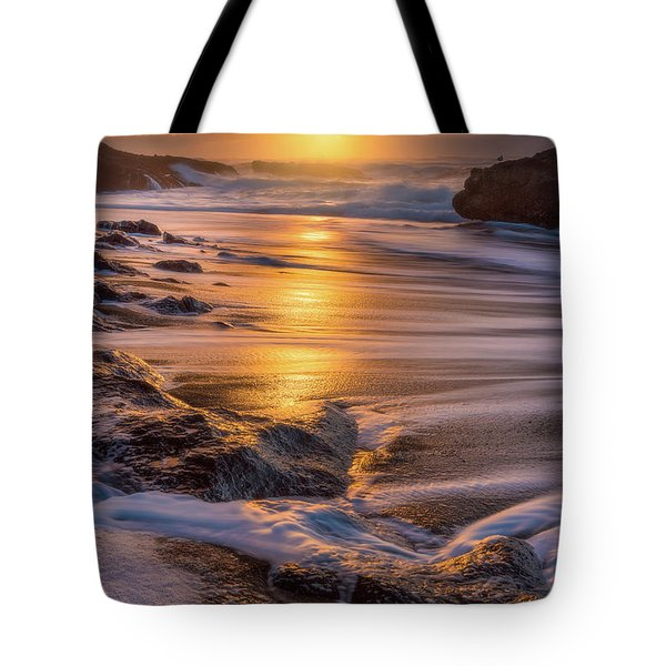 Tote Bag featuring the photograph Yachats' Sun by Darren White