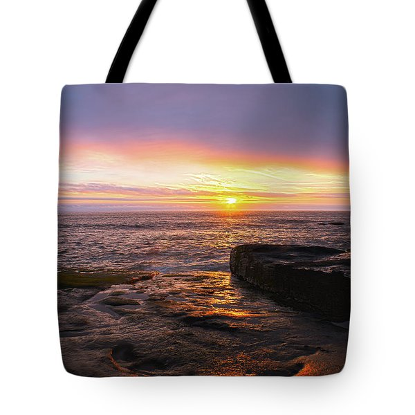 Tote Bag featuring the photograph Yachats Sunset by Tyra OBryant