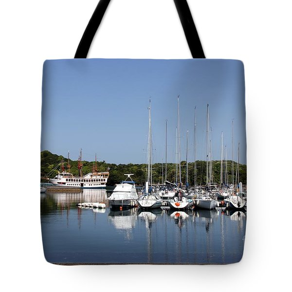 Tote Bag featuring the photograph Yacht Harbor by Yumi Johnson