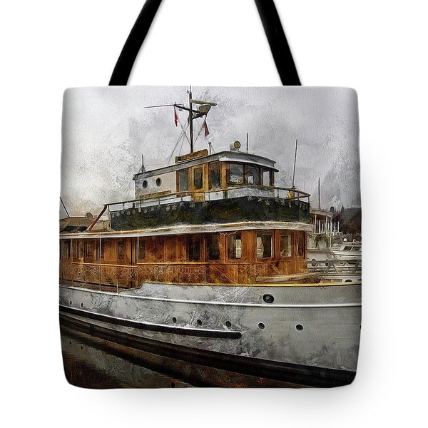 Yacht M V Discovery Tote Bag