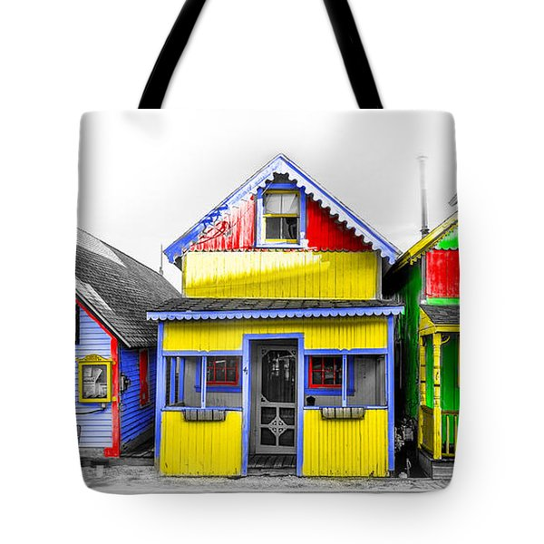 Tote Bag featuring the photograph Yacht Street Cape May In Technicolor by Bill Cannon