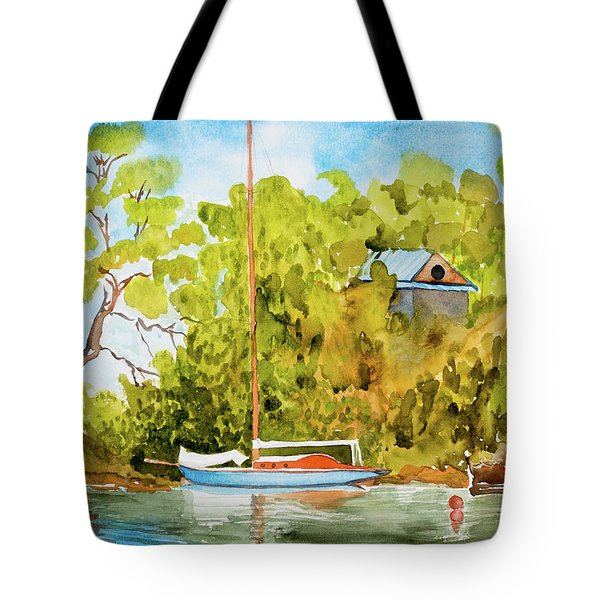 Yacht Weene' In Barnes Bay  Tote Bag
