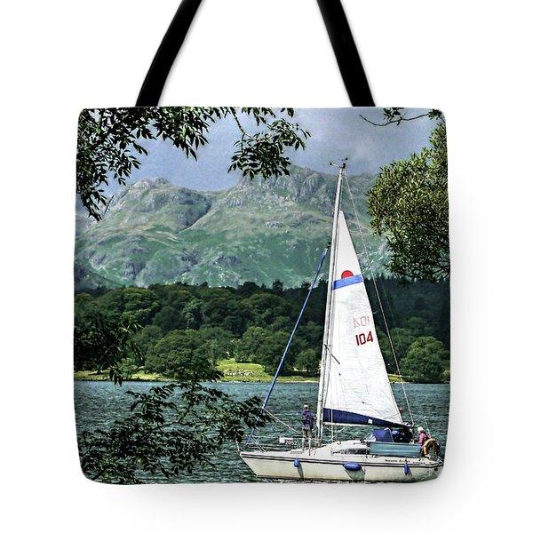 Yachting Lake Windermere Tote Bag