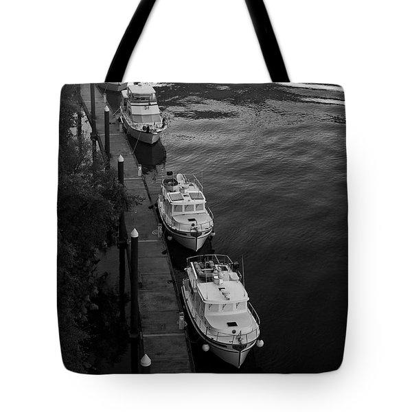 Yachts At Dock Tote Bag