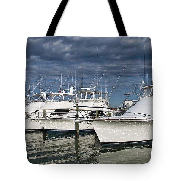 Yachts At The Dock Tote Bag