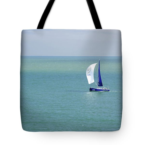 Yachts Sailing In Ventnor Bay Tote Bag by Rod Johnson