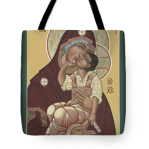 Tote Bag featuring the painting Yakhrom Icon Of The Mother Of God 258 by William Hart McNichols