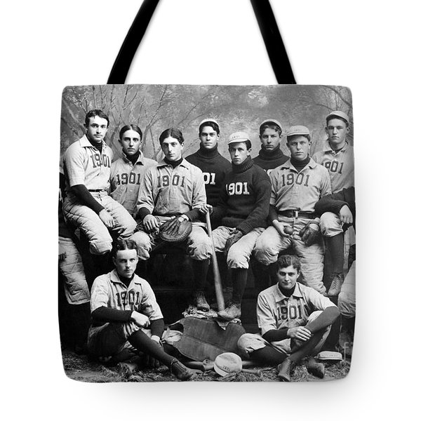 Yale Baseball Team, 1901 Tote Bag by Granger