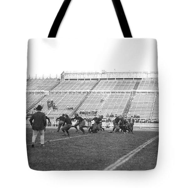 Yale Football Practice 1913 Tote Bag