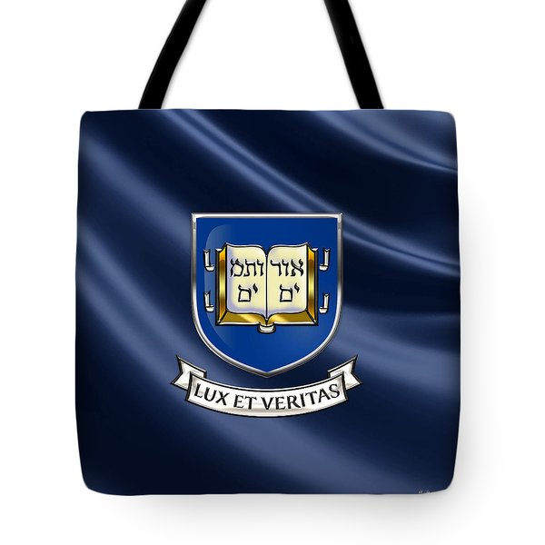 Yale University Coat Of Arms.  Tote Bag by Serge Averbukh