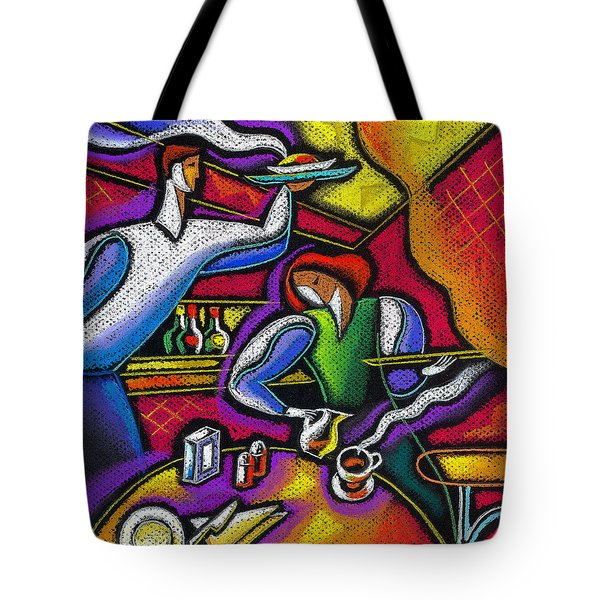 Tote Bag featuring the painting  Yam Food And Drink by Leon Zernitsky