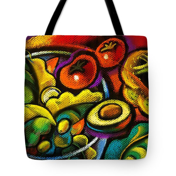 Healthy Organic Salad Tote Bag