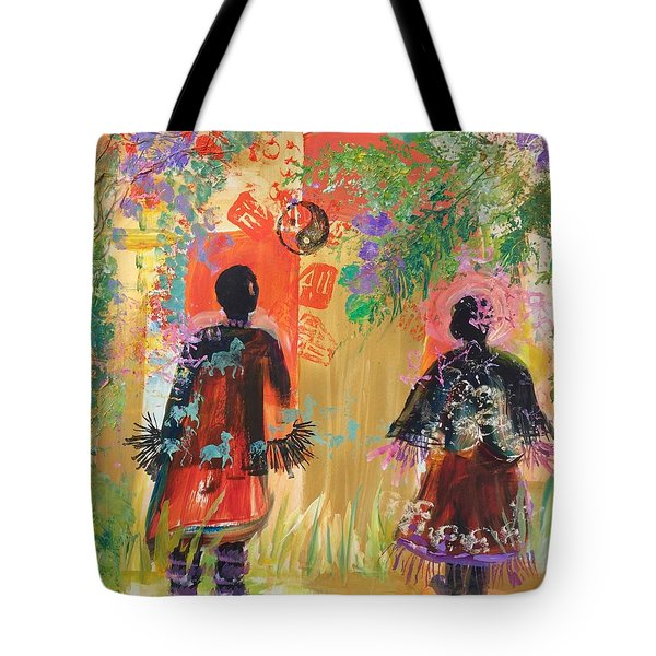 Yang And Yin Couple Tote Bag