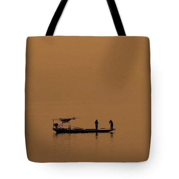 Yangtze Fishermen Tote Bag