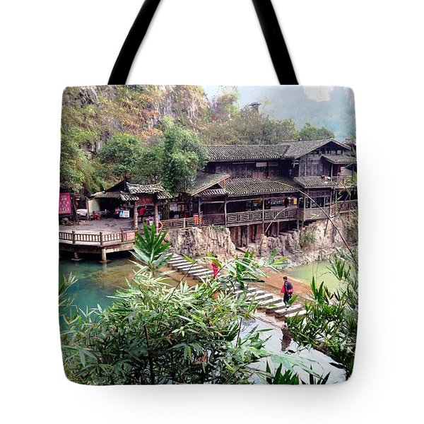 Tote Bag featuring the photograph Yangtze Village by Vicky Tarcau