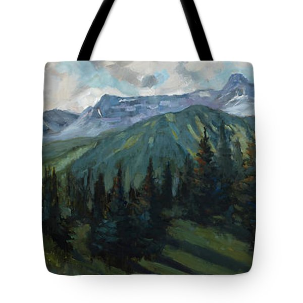Tote Bag featuring the painting Yankee Boy Basin by Billie Colson