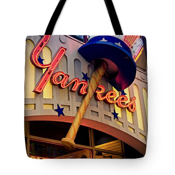 Yankee Clubhouse Tote Bag by Joann Vitali
