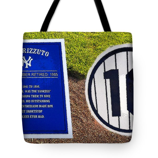 Yankee Legends Number 10 Tote Bag by David Lee Thompson