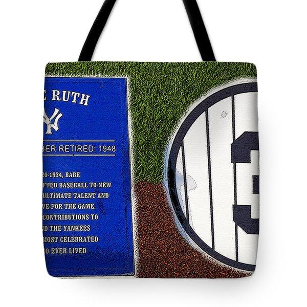 Yankee Legends Number 3 Tote Bag by David Lee Thompson