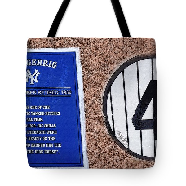 Yankee Legends Number 4 Tote Bag by David Lee Thompson