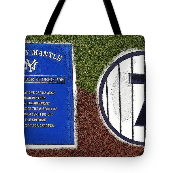 Yankee Legends Number 7 Tote Bag by David Lee Thompson