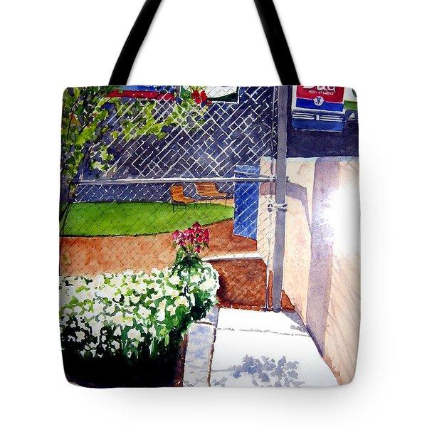 Yankee Stadium Tote Bag by Sandy Ryan