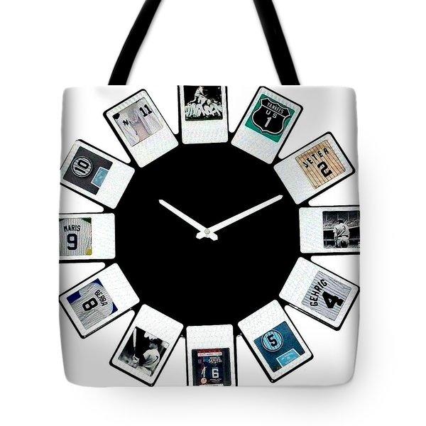 yankees Clock Tote Bag by Paul Van Scott