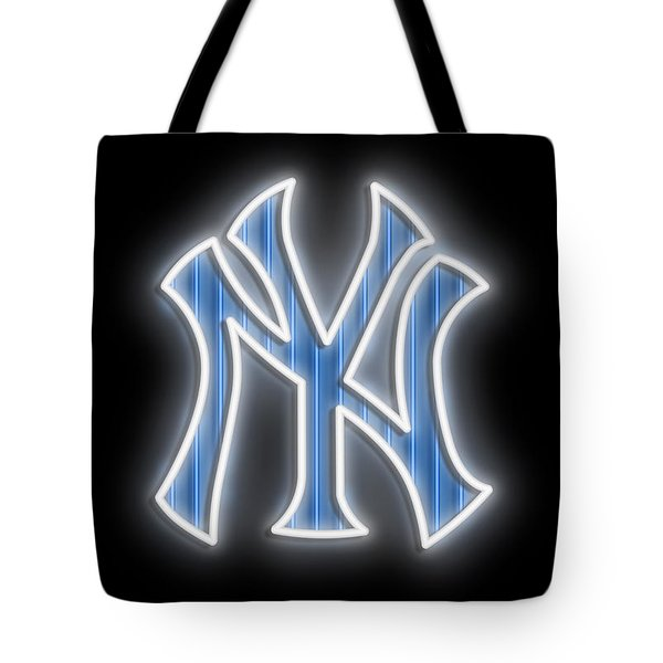 Yankees Neon Sign Tote Bag