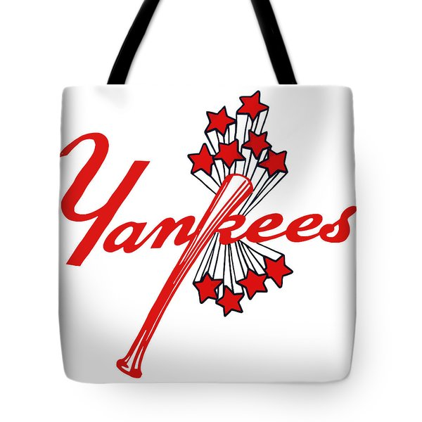 Yankees Vintage Tote Bag by Gina Dsgn