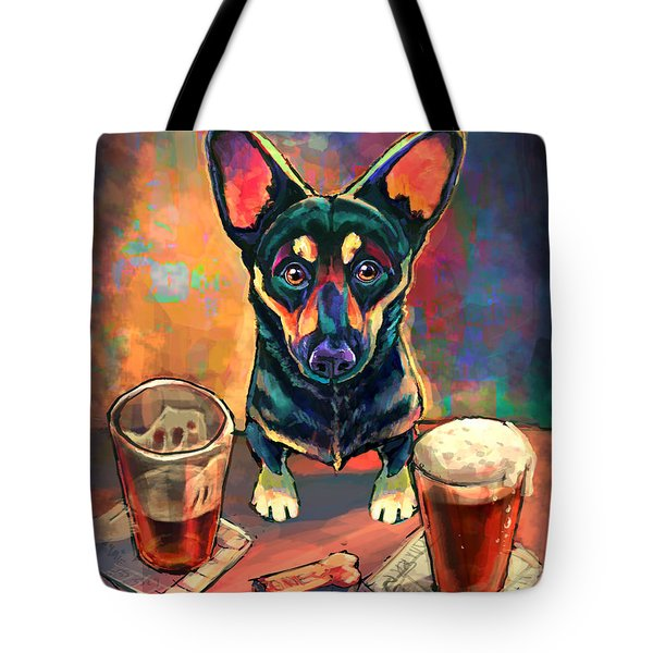 Yappy Hour Tote Bag by Sean ODaniels