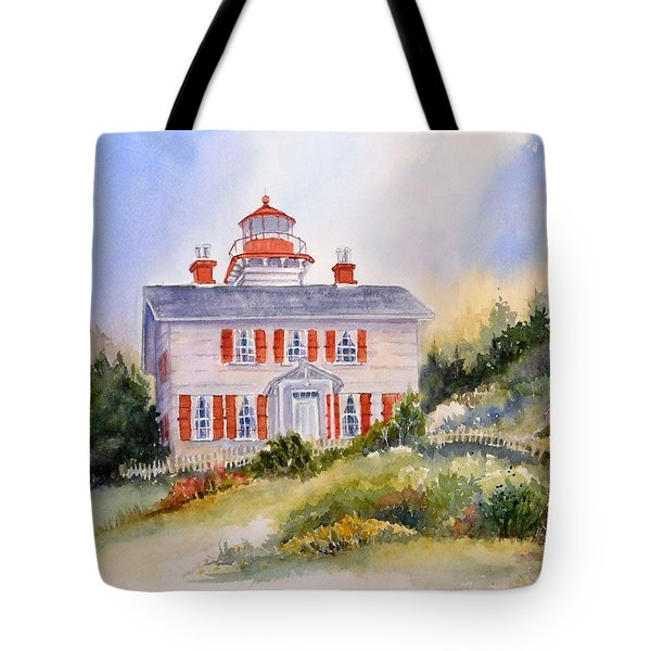 Yaquina Bay Light Tote Bag