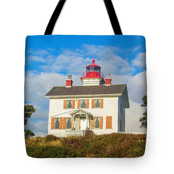 Tote Bag featuring the photograph Yaquina Bay Lighthouse by Dennis Bucklin