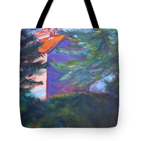 Yaquina Bay Lighthouse  Tote Bag by Quin Sweetman
