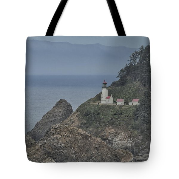 Yaquina Bay Lighthouse Tote Bag by Tom Kelly