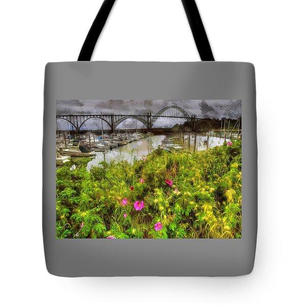 Yaquina Bay Roses Tote Bag
