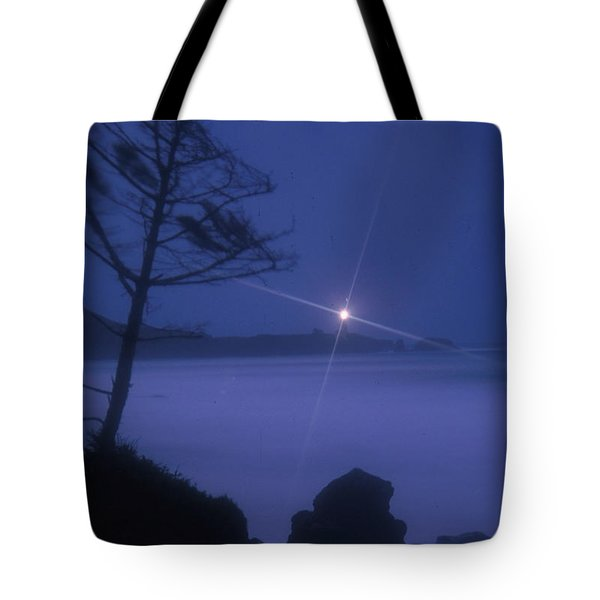 Yaquina Head At Night Tote Bag