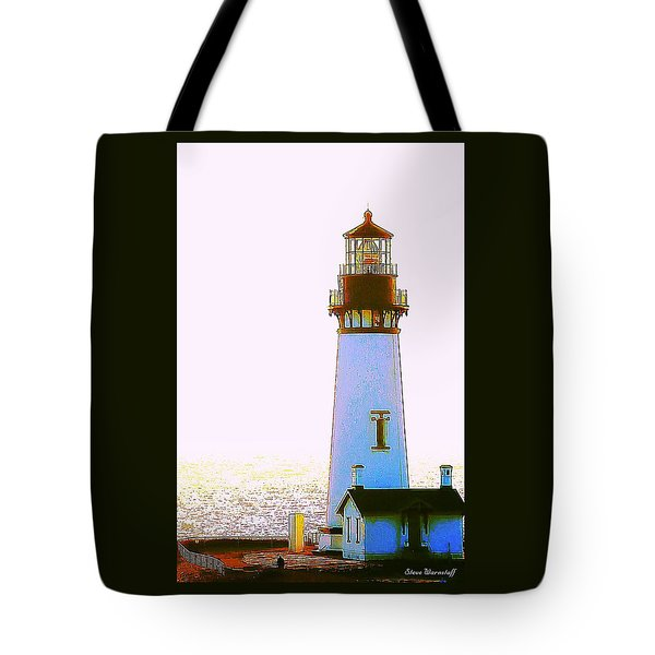 Yaquina Head Lighthouse Tote Bag by Steve Warnstaff
