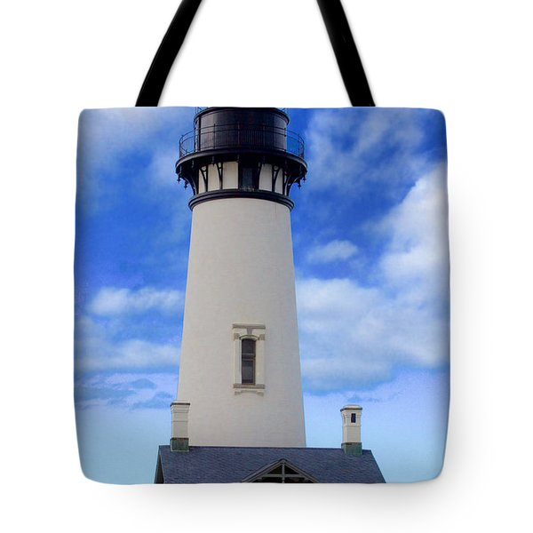Yaquina Head Lighthouse Tote Bag by Todd Kreuter