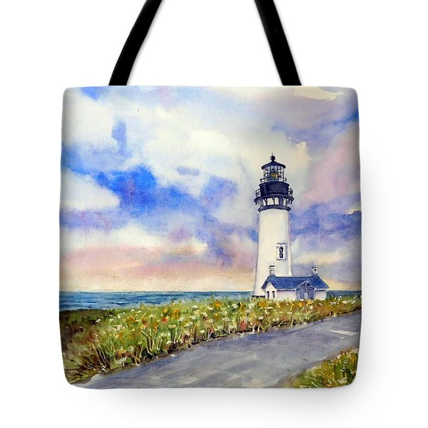 Yaquina Head Lighthouse - Springtime Tote Bag